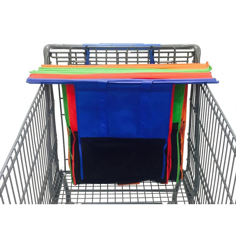 4 Pcs Foldable Reusable Shopping Cart Storage Bags