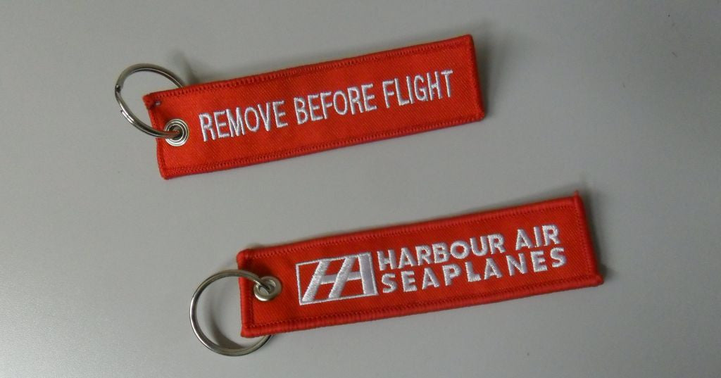 Remove Before Flight/ Harbour Air Seaplanes keychain