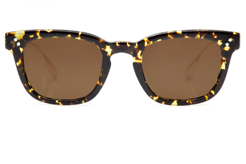 A classic, retro-inspired silhouette, Avery features metal temple tips for effortless style and a comfortable, everyday fit. Free shipping and lifetime warranty. Amber polarized lens and handcrafted zulu acetate with 24K gold plated frame.