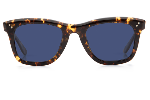 Inspired by St. Charles Avenue, Charles II is an update on the classic wayfarer, featuring hand-beveled edges, custom temple wire, and pinned hinges.  Free shipping and lifetime warranty. Blue polarized lens and handcrafted bengal tortoise acetate frame.