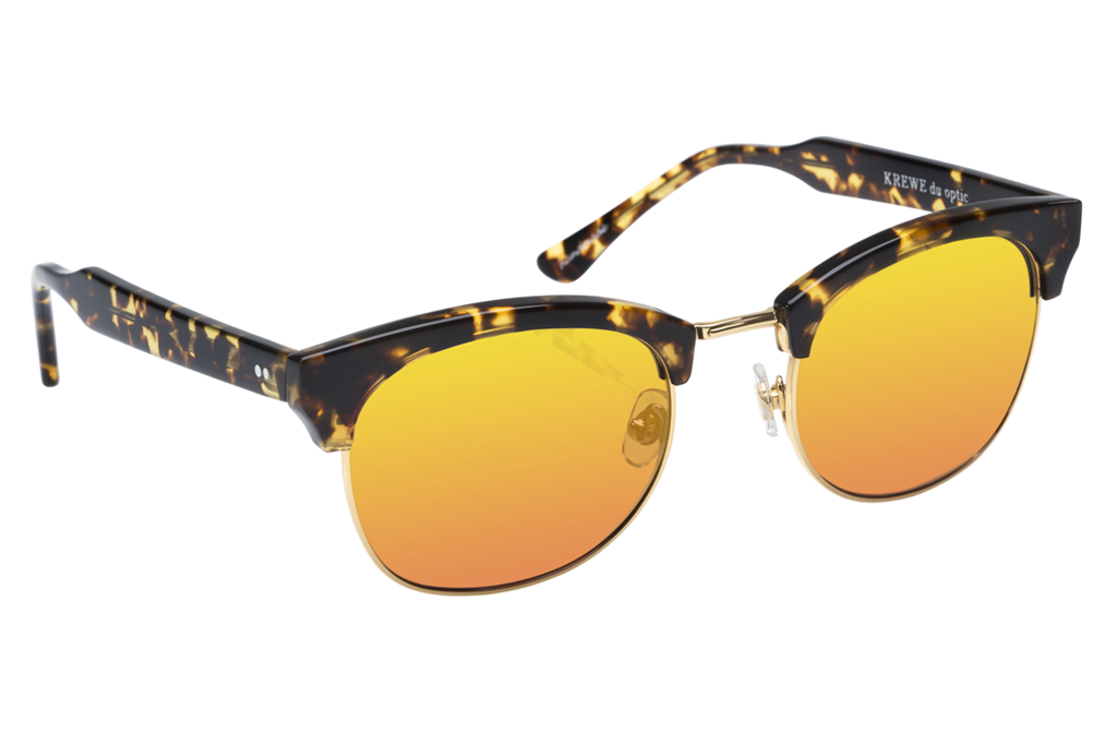 The L•G•D embodies the elegant, free-spirited style of the Lower Garden District. Crafted from acetate and metal, the retro-inspired silhouette is a modern classic.  As seen on Jimmy Butler and Amber Heard. Free shipping and lifetime warranty.  Sunset mirrored lens and handcrafted bengal acetate frame with 24K gold plated hardware.