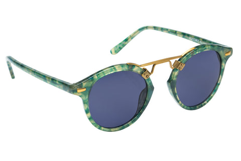 St. Louis Ivy boasts a 24K bridge, rounded blue polarized lenses and a retro-inspired silhouette making it a celebrity favorite.  Gigi Hadid, Kendall Jenner, Adriana Lima, Selena Gomez, Dakota Fanning, Michiel Huisman, Beyonce, Julianna Hough, Kate Hudson, and Olivia Culpo all own a pair. These best-selling sunglasses are crafted from acetate and derive inspiration from the French Quarter's iconic cast-iron balconies. Free shipping and lifetime warranty.