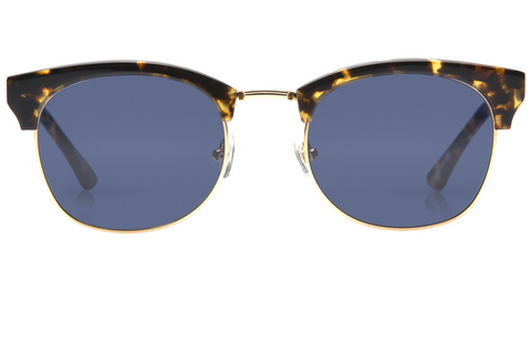 The L•G•D embodies the elegant, free-spirited style of the Lower Garden District. Crafted from acetate and metal, the retro-inspired silhouette is a modern classic.  As seen on Jimmy Butler and Amber Heard. Free shipping and lifetime warranty.  Blue lens and handcrafted bengal tortoise acetate frame.