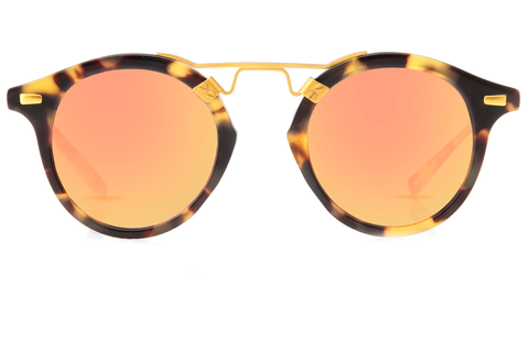 St. Louis Audubon Rose boasts a 24K bridge, rounded rose mirrored lenses and a retro-inspired silhouette making it a celebrity favorite.  Gigi, Kendall, Adriana Lima, Selena Gomez and Dakota Fanning all own a pair. These best-selling sunglasses are crafted from acetate and derive inspiration from the French Quarter's iconic cast-iron balconies. Free shipping both ways.