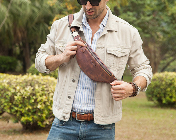 best fanny pack leather