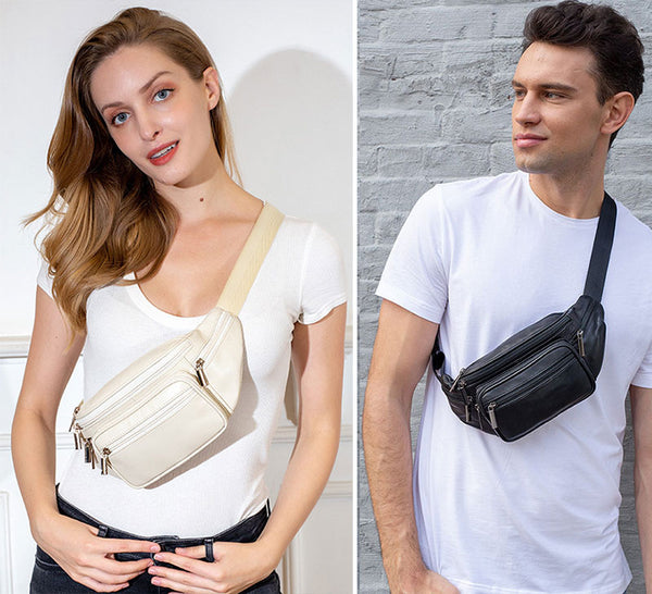 Wearing your fanny pack across your chest