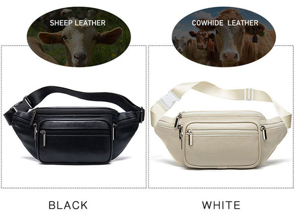 Leather Fanny Pack for Men and Women