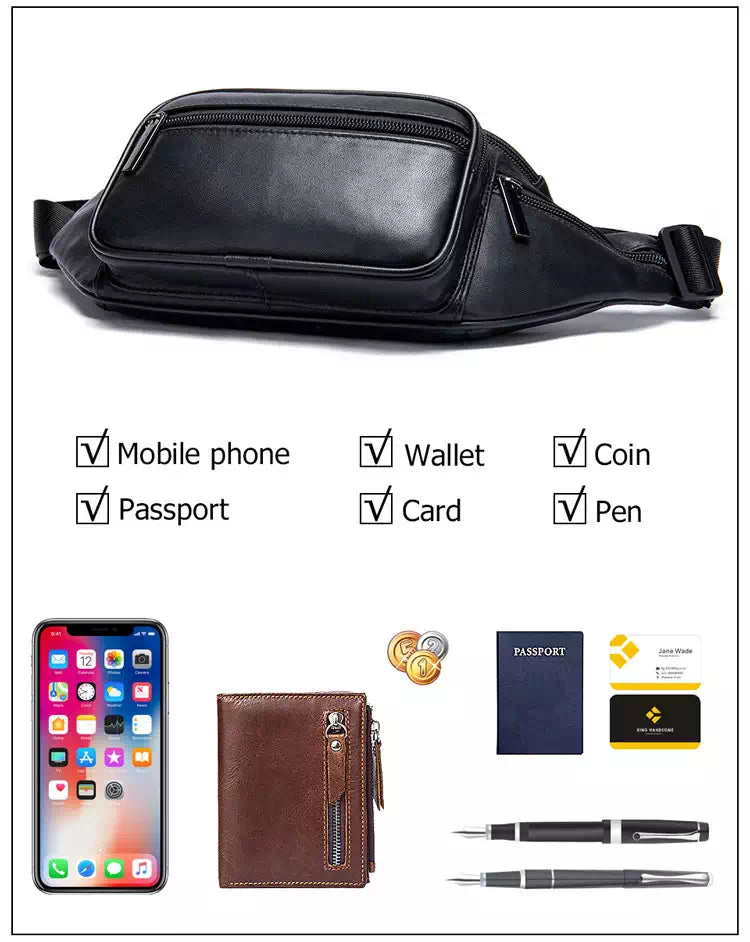 leather fanny pack for women and men