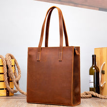 Load image into Gallery viewer, Women's Vintage Crazy Horse Genuine Leather Tote Bag