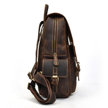 Load image into Gallery viewer, Vintage Genuine Leather Satchel Backpack