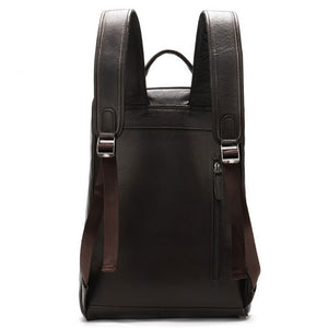 Men's Genuine Leather Business  Backpack