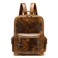 Load image into Gallery viewer, Vintage Crazy Horse Genuine Leather Backpack