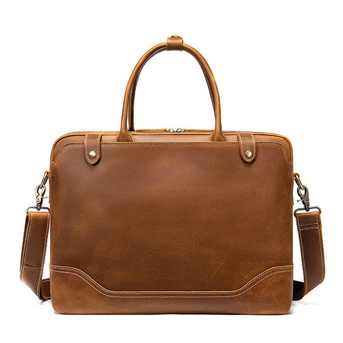Best men's leather briefcase bag for sale