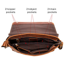 Load image into Gallery viewer, Men's Leather Messenger Bag for Sale LukeCase