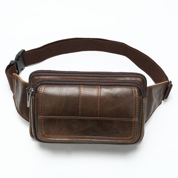 Waist Bags Men's Vintage Genuine Leather Fanny Pack