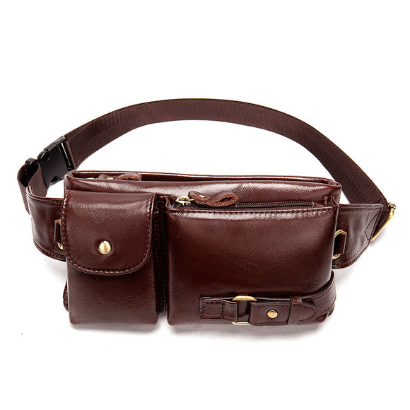 Leather Fanny Pack Waist Bags for Men & Women