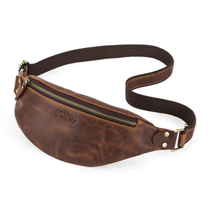 Men's Crazy Horse Leather Fanny Pack