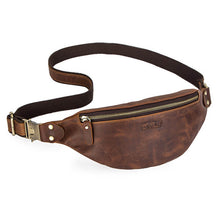 Load image into Gallery viewer, Men's Crazy Horse Leather Fanny Pack