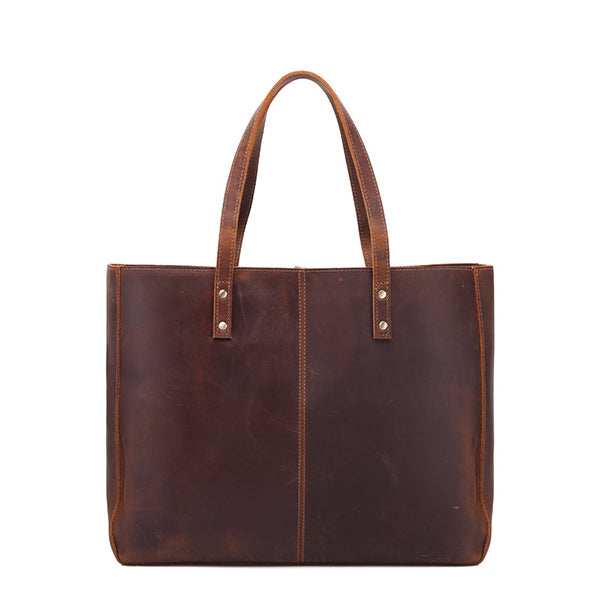 Women's Crazy Horse Genuine Leather Tote Bag