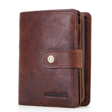 Load image into Gallery viewer, Men's RFID Genuine Leather Trifold Wallet
