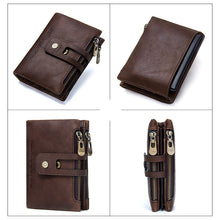 Load image into Gallery viewer, Men's Genuine Leather Bi-Fold Wallet