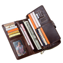 Load image into Gallery viewer, Men's Long Leather Wallet with Large Capacity