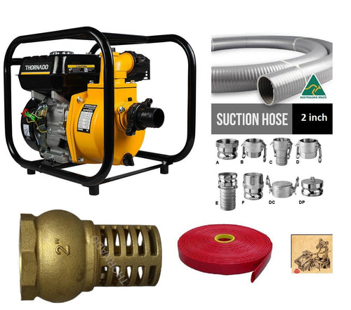 2 Inch Highbanker Pump, fittings and HD Hose kit