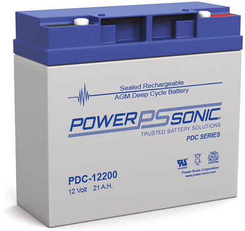 12V 21 AH Deep Cycle AGM Battery Power Sonic