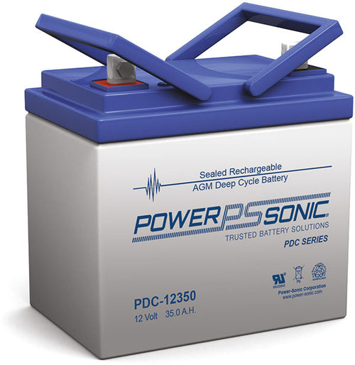 12V 35.4 AH Deep Cycle AGM Battery Power Sonic