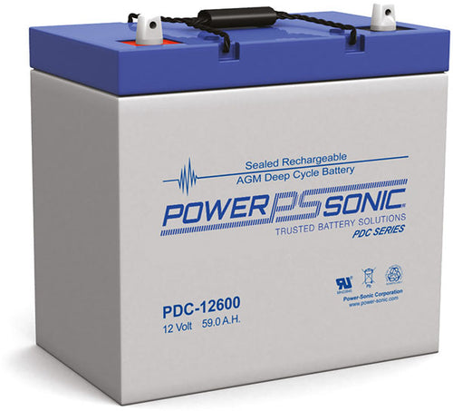 12V 59 AH Deep Cycle AGM Battery Power Sonic
