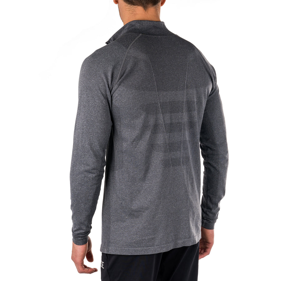Premium Seamless 1/4 Zip Pullover – Charcoal Marl