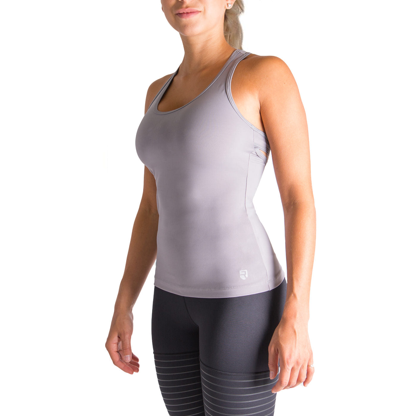 Finish Line Tank Top – Grey - Rise