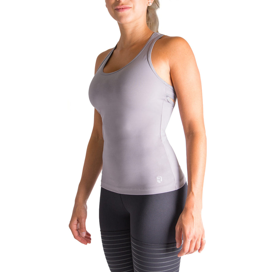 Finish Line Tank Top – Grey