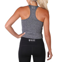 Allure Crop Top – Charcoal