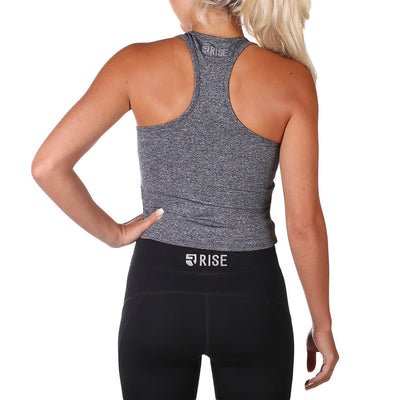 Allure Crop Top – Charcoal - Rise