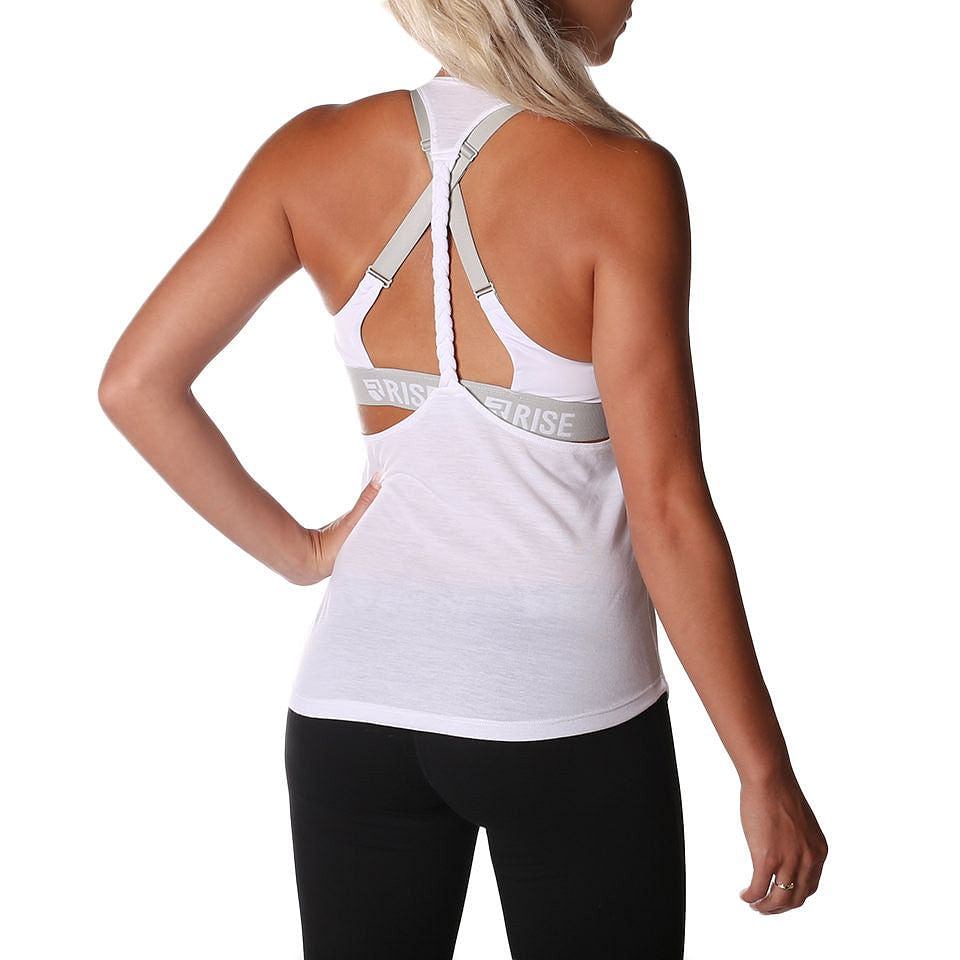 Axis Tank Top – White - Rise