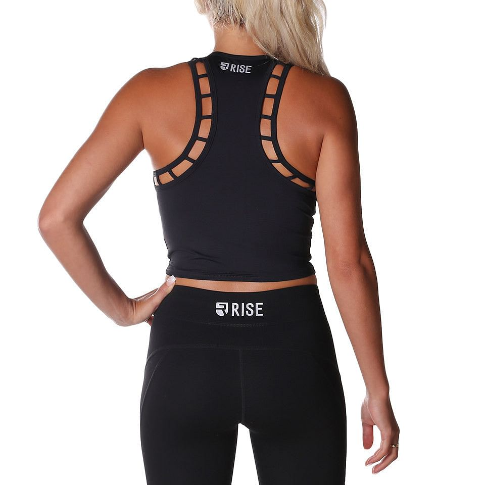 Breathe Crop Top – Black - Rise