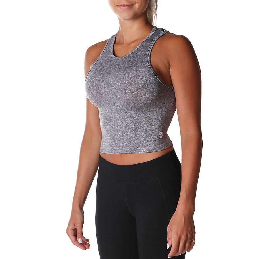 Breathe Crop Top – Grey