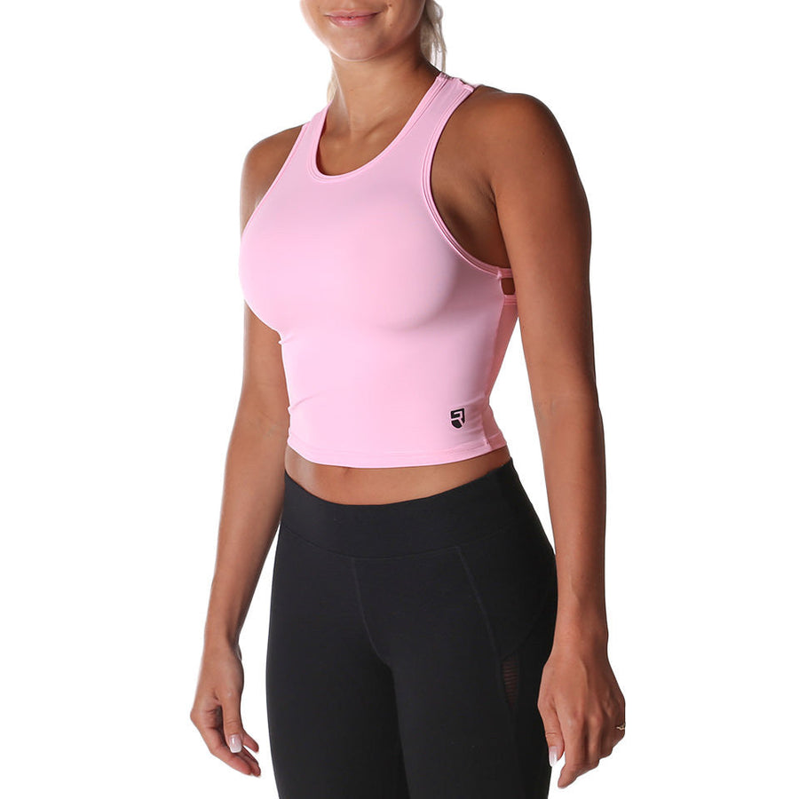 Breathe Crop Top – Pink - Rise