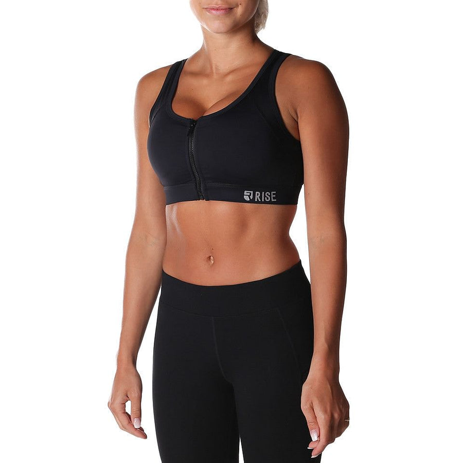 Equinox Sports Bra – Black (max. support) - Rise
