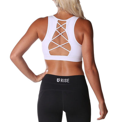 Equinox Sports Bra – White (max. support) - Rise