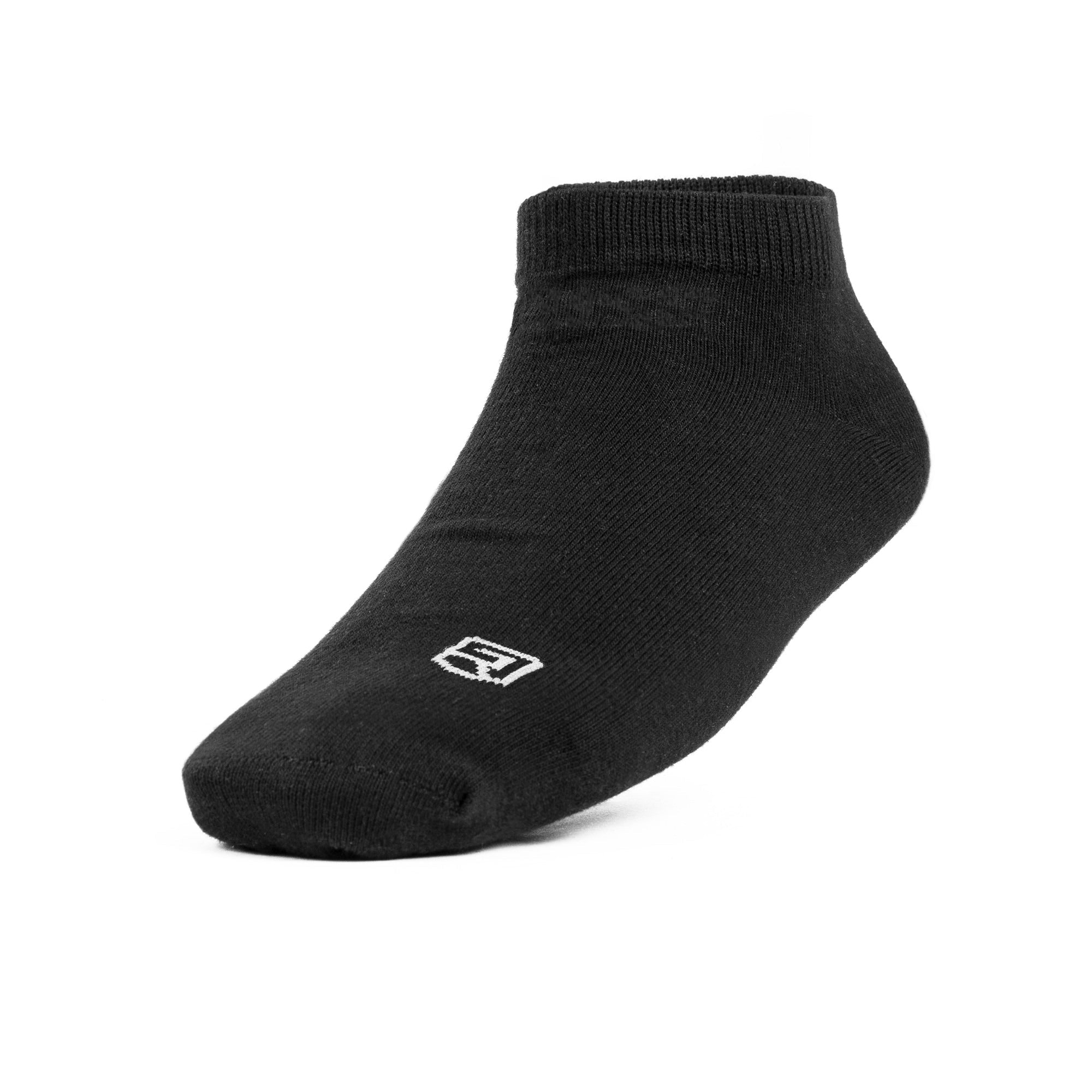 Athletic Ankle Socks - Shield – Black