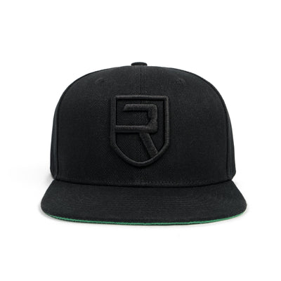 Signature Snapback – Black on Black
