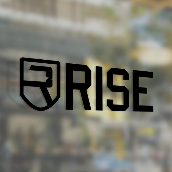 Rise Decal 3″ - Black