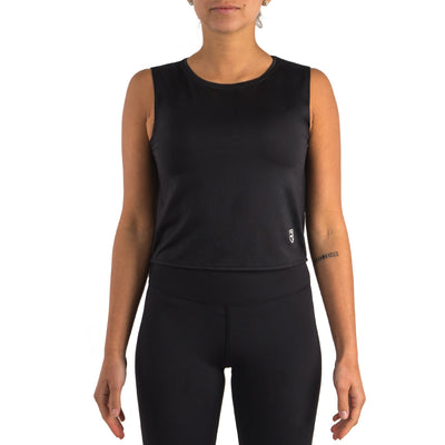 Go With The Flow Tank Top – Black