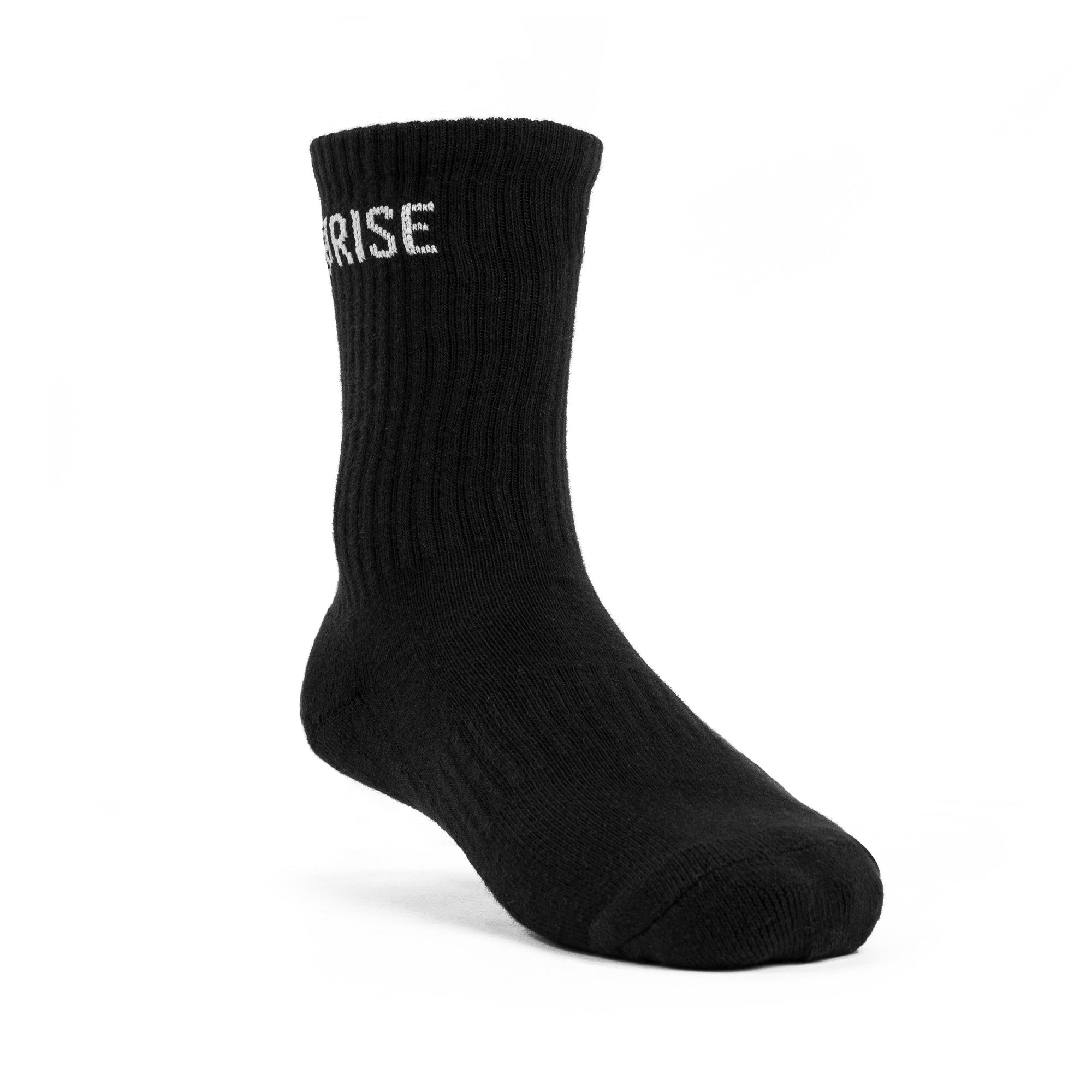 Rise Crew Socks – Black