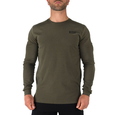 Offshore Fleece Light Crew  – Army Green