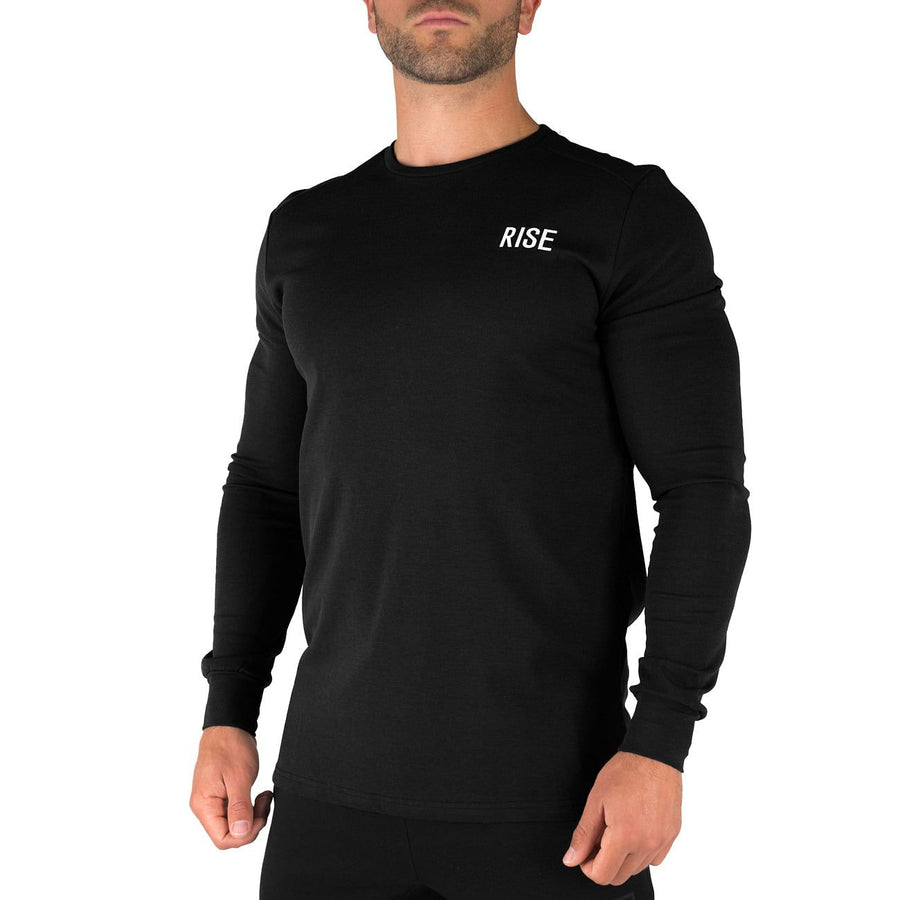 Offshore Fleece Light Crew  – Black