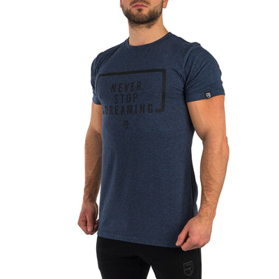 Never Stop Dreaming T-Shirt - Heather Navy