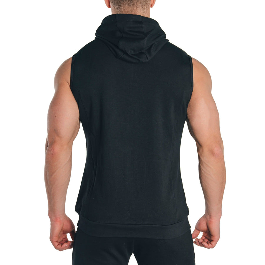 Peak Sleeveless Hoodie – Black